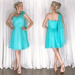 Drape Fit Flair Homecoming Pageant Prom Dress